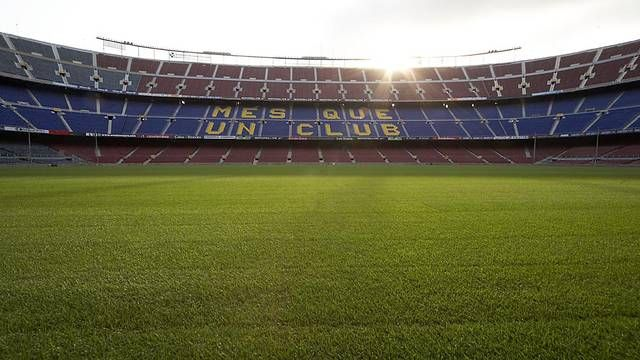 The Camp Nou... Home of FC Barcelona (THE best soccer team in the world).