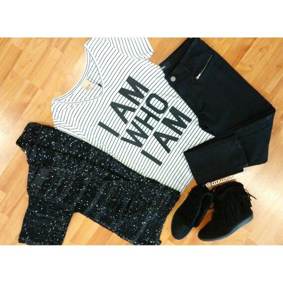 Outfit Black&white. Total look by www.carumamoda.es