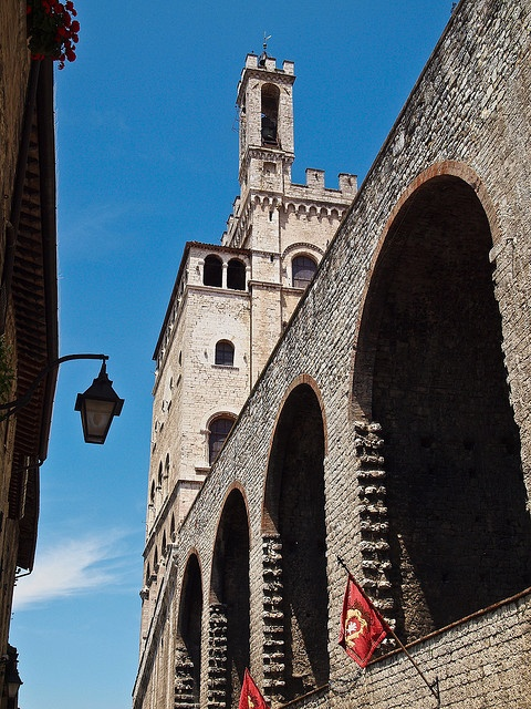 View of the Palazzo dei Consoli in Gubbio, Italy by Anguskirk, via Flickr