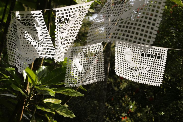 Papel picalo for wedding styling. Can be purchased from www.hushaccommodation.co.nz