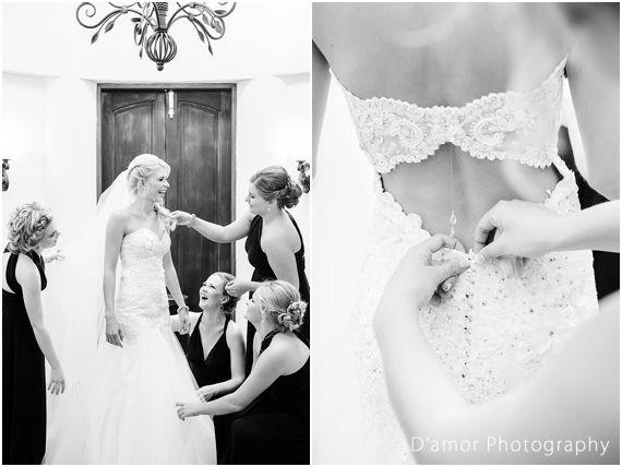 bride getting ready with bridesmaids | White Wedding Wonderland at Thaba Ya Batswana | http://damorphotography.co.za/ben-estune-white-wedding-wonderland-at-thaba-ya-batswana/