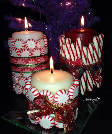 Manualidades con velas para navidad decora tu hogar - Velas de navidad decoradas ...