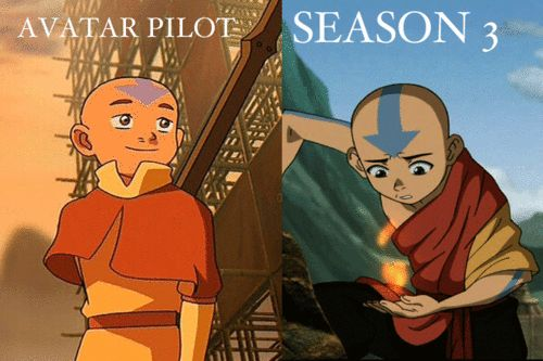 I sure am glad that the AtLA artists upped their game before creating the real show. The pilot looks pitiful in comparison.