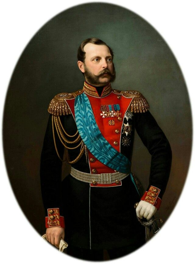 Alexander II. Nikolajewitsch(russischАлекса́ндр II Никола́евич; * 17.jul./29.April1818greg.inMoskau; † 1.jul./13.März1881greg.inSankt Petersburg) war 1855 bis 1881Kaiser[1]vonRusslandaus dem HausRomanow-Holstein-Gottorp. oo mit Marie von Hessen-Darmstadt.