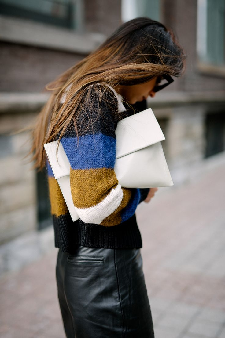 stripes and leather #style