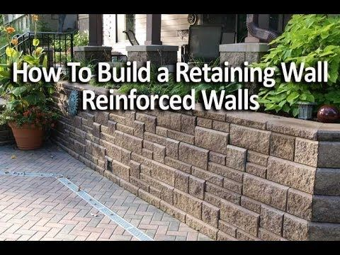 how to build a retaining wall allan block