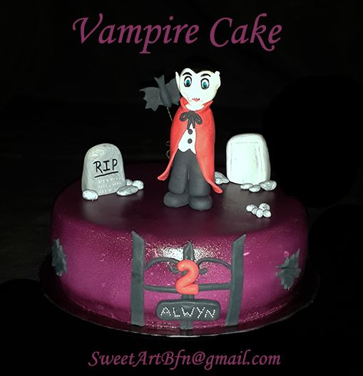 Vampire Cake  Bloemfontein cakes, cupcakes & fondant decor suppliers. For more information & orders email SweetArtBfn@gmail.com or Call Lola 0712127786.