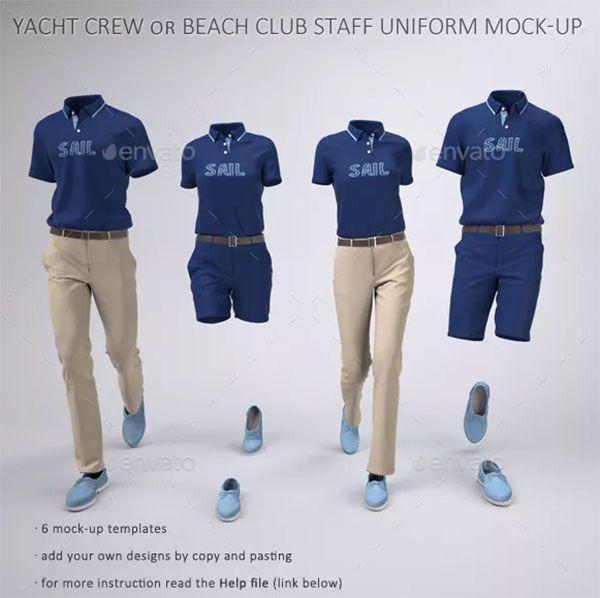 42 Uniform Mockups Free Premium Photoshop Ai Downloads Polo Shirt Design Staff Uniforms Corporate Shirts
