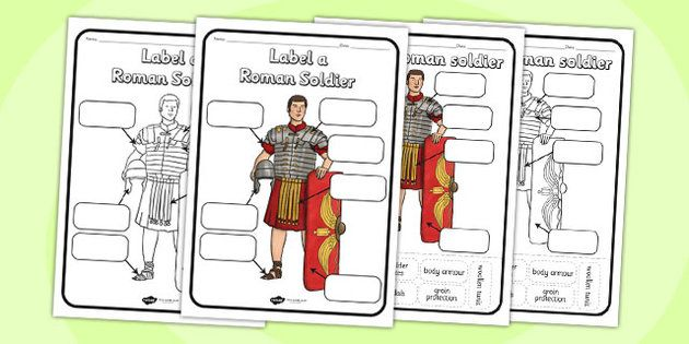 Label a Roman Soldier Worksheet - label a roman soldier, romans, roman soldier…