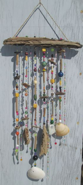 DRIFTWOOD Mobile Windchime Suncatcher made by MermaidsMasterpiece, $40.00