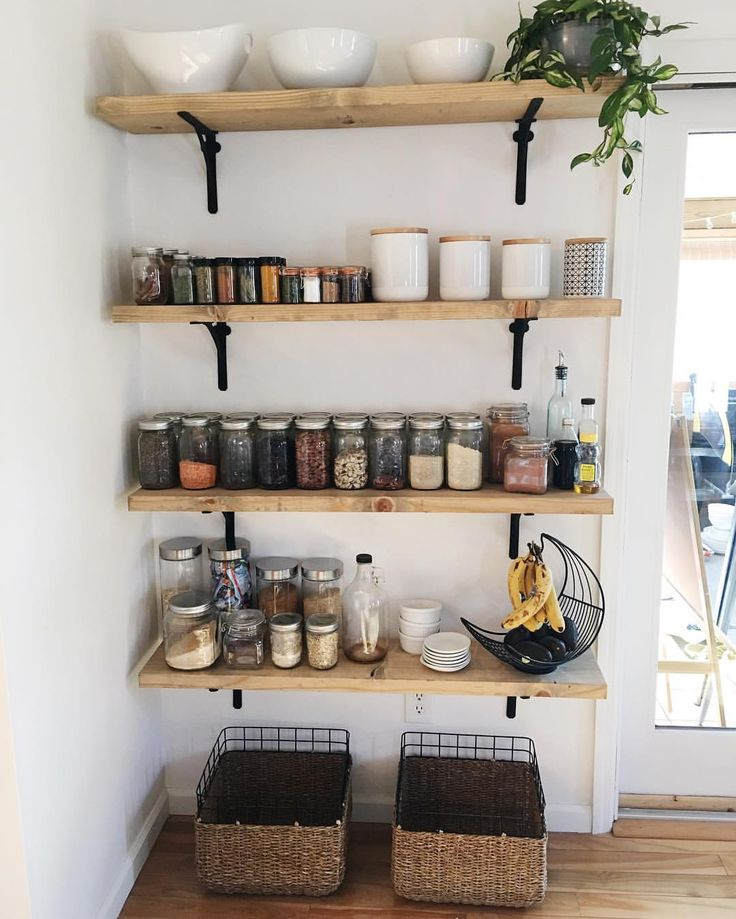 17 Best Ideas About Open Pantry On Pinterest Open Shelving Farmhouse Food Storage Containers