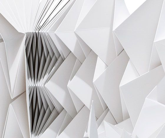"""""""Lot of Paper"""" limited design seat by Cecilie Manz, achieved through the process of tessellation."""