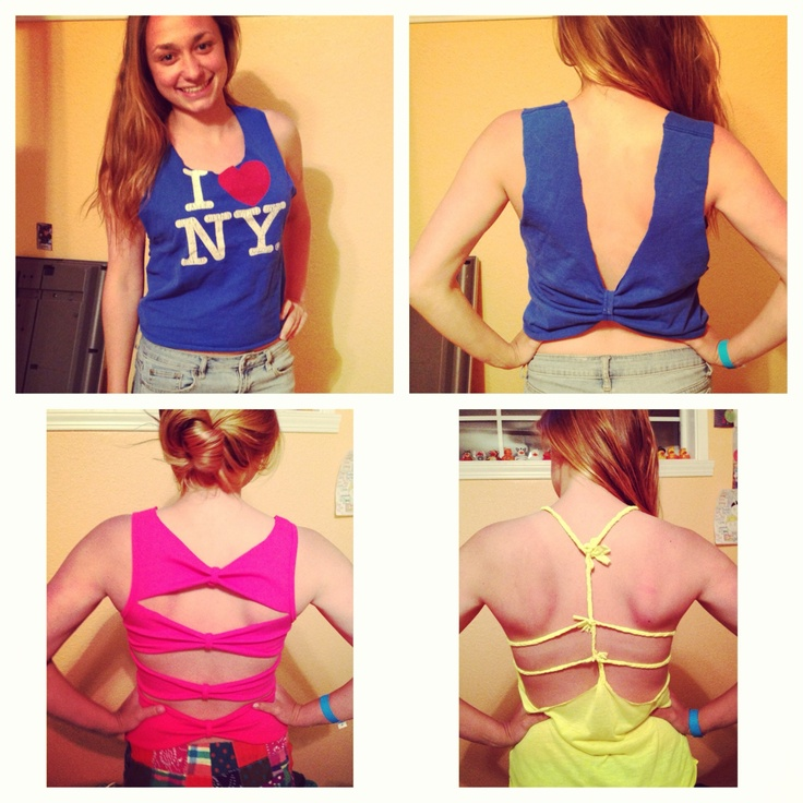 how to cut the back of your shirt cute
