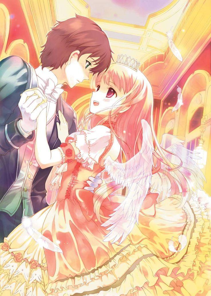 Anime couple prince and princess sweet couple dance - Manga princesse ...