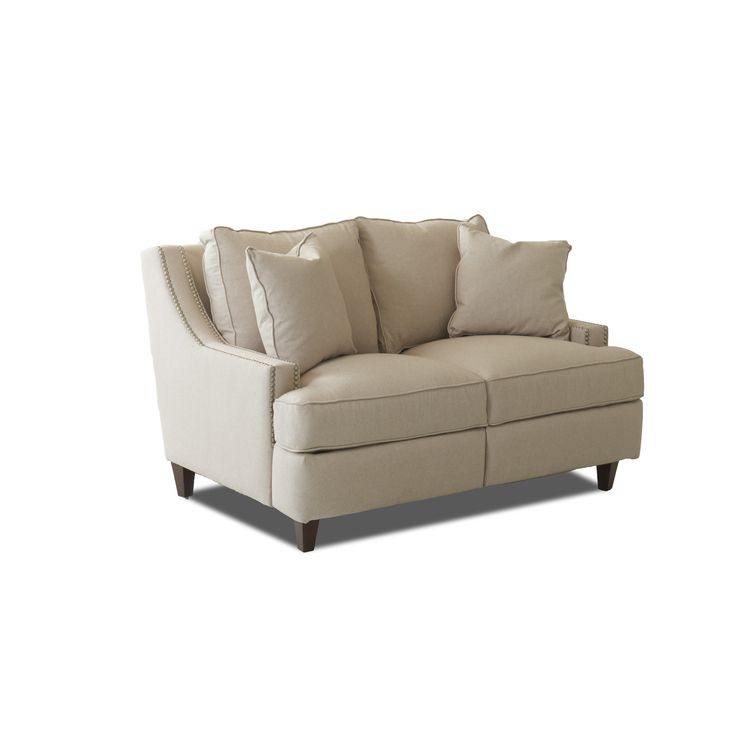 Wayfair Custom Upholstery Tricia Power Hybrid Reclining Loveseat