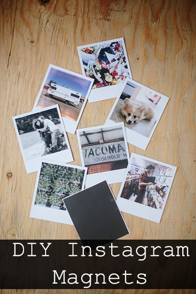 DIY Instagram Magnets. Flexible magnets available from - http://www.first4magnets.com/dot-rectangle-sheet-magnets-c83/flexible-magnets-t141