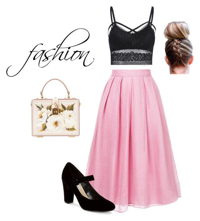 """""""vestido de verano"""" by maria-barrera-2 on Polyvore featuring moda, Jupe By Jackie, Saks Fifth Avenue y Dolce&Gabbana"""