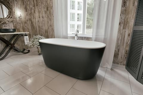 Aquatica Lullaby-Mini-Blck-Wht Freestanding Solid Stone Surface Bathtub - Bathtub - Gorgeous Tub  Have a small bathroom. this tub perfect for tiny bathroom good size Internal Dimensions: 52.25 in. L x 25.50 in. W x 19.00 in.  https://www.gorgeoustubs.com/products/aquatica-lullaby-mini-blck-wht-freestanding-solid-surface-bathtub    H
