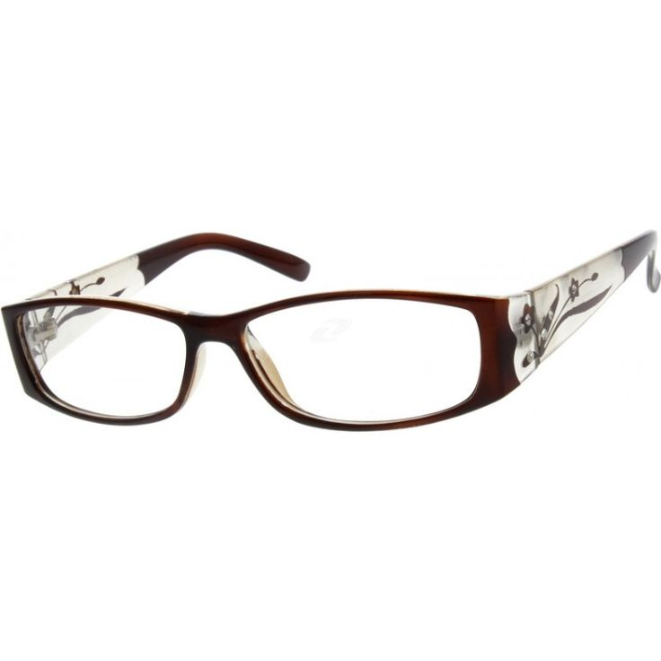 a full rim plastic frame this medium wide pair of glasses has a brown eyeglasses
