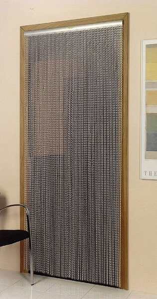 Best 25 metal mesh screen ideas on pinterest perforated for Fly curtains for french doors
