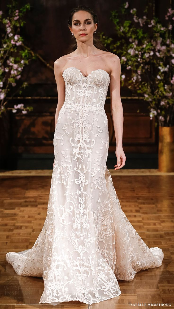 isabelle armstrong bridal spring 2017 strapless sweetheart trumpet wedding dress (aubrey) mv
