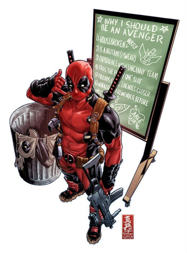 He needs to make a cameo in Avengers 2. Or any movie. Just not portrayed by Ryan Reynolds.<---actually Ryan Reynolds has a huge amount of respect for Deadpool. He argued against some thing they did in the Wolverine movie
