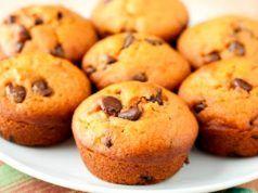 ¡Qué delicia! Ricos muffins con chips de chocolate