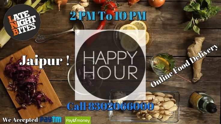 HAPPY HOURS! Order Online and get surprising gift for you GUYS! Timing 2 PM to 10 PM www.latenightbites.in call 8302066000 We deliver Smiles :)