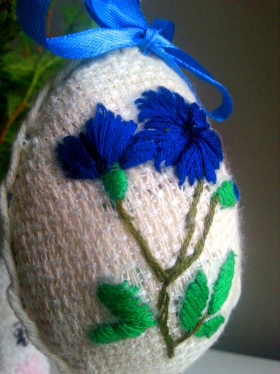 Vintage style Easter Egg in blue