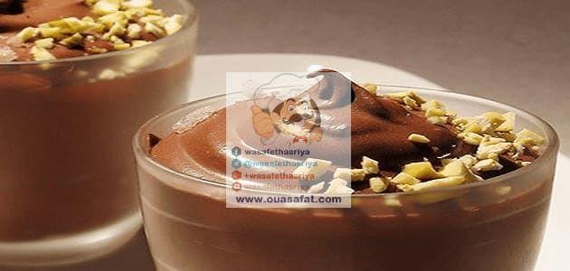 كؤوس الكاسترد بالشوكولاطة والمكسرات Chocolate Nuts Custard Food