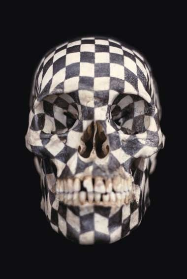 Gabriel Orozco  Black Kites 1997 21x12x15 Graphite on Skull