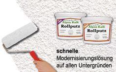 RollputzStreichputz - Rollputz - Streichputz von AlpenKalk. Einfach, schnell und ansatzlos. Kalkputz zum Rollen oder Streichen.Rollputz und Streichputz zur einfachen und schnellen Modernisierung