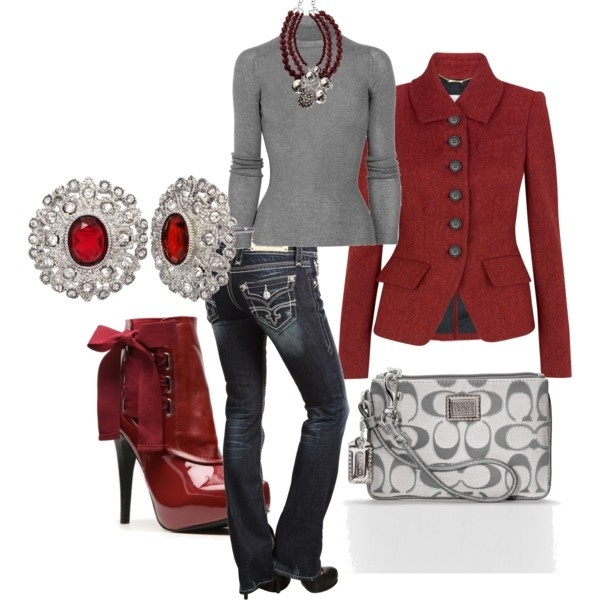 Georgia Game!!Red, Style, Closets, Clothing, Jeans, Fashion Pinterest, Grey, Jean Outfits, Wear