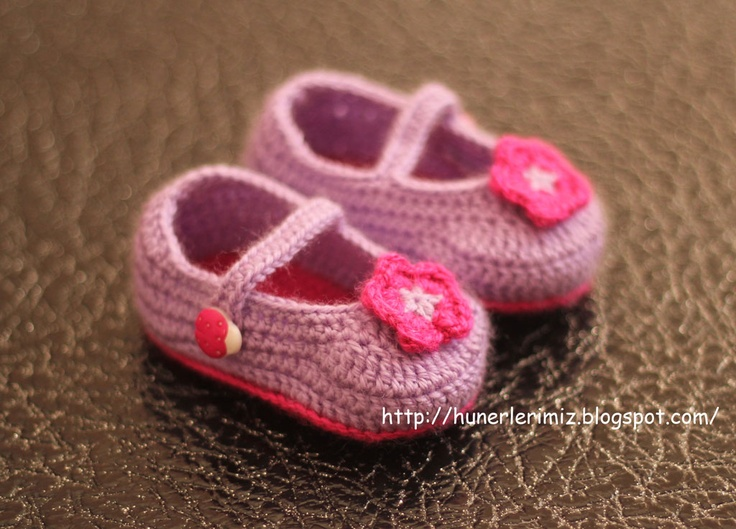 Stunting: crocheted Baby Booties Tutorial - Instructions ...