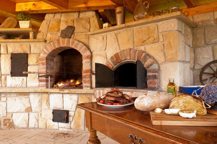 Rustic Czech outdoor kitchen - sandstone