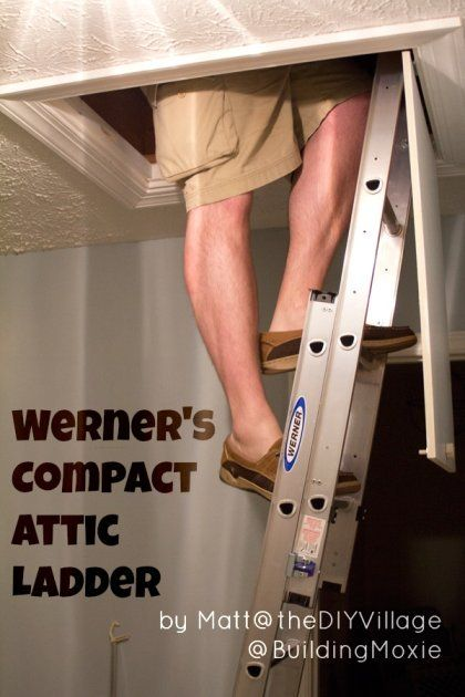 Werner Compact Attic Ladder pin Small Space Storage Solution :: Installing a Werner Compact Attic Ladder & Review