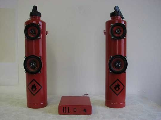 Look! Fire Extinguisher Speakers | Apartment Therapy