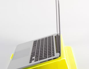 Ergonomic Support for your Laptop - no more back, neck or wrist strain - LapStop has been designed for at your work desk, lying in bed or on the couch, elevates stress on your back,neck and wrists