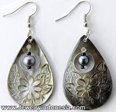 Image result for carved shell earrings