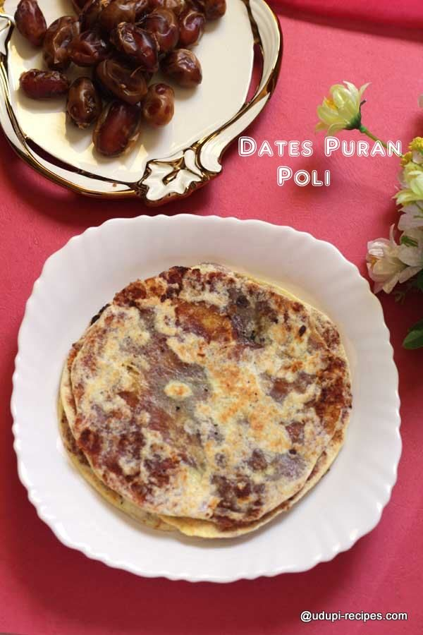 Looking for an innovative alternative of puran poli?? Try this dates puran poli recipe this ugadi and enjoy it's deliciousness.