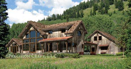 Silversprings Log Home Floorplan Weathered Wood Siding