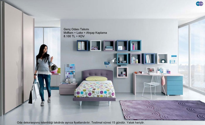 Mobilya Modeller ve Fiyatları - Yatak Odası Takımları - Yatak Odası: Genc Odasi Modelleri