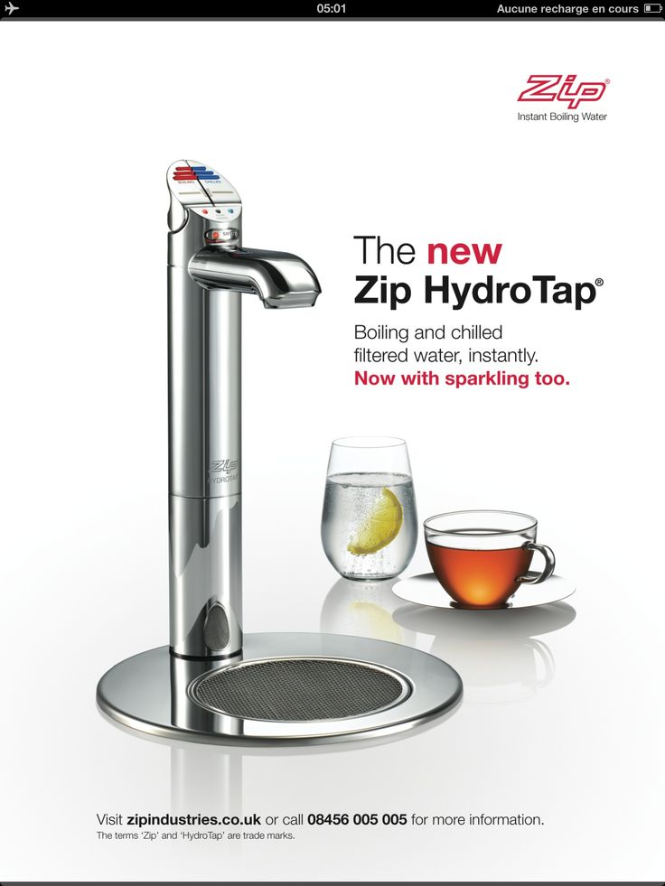 tap with filtered hot and cold water (not necessarily this one)