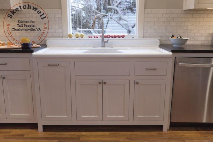 vintage double drainboard sink - sink cabinet