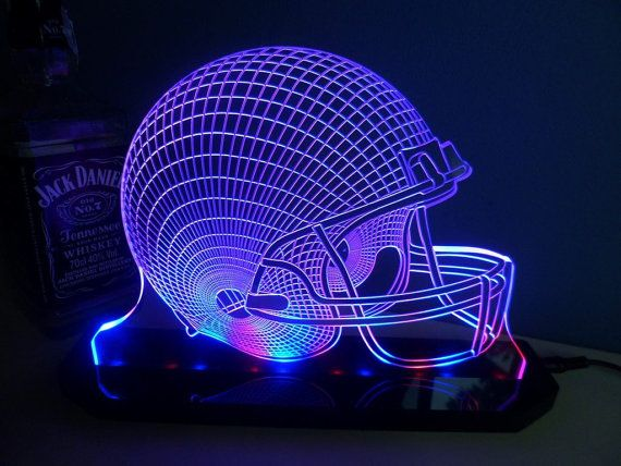 Hey, I found this really awesome Etsy listing at https://www.etsy.com/listing/194314926/football-helmet-lamp-3d-led-light-hand