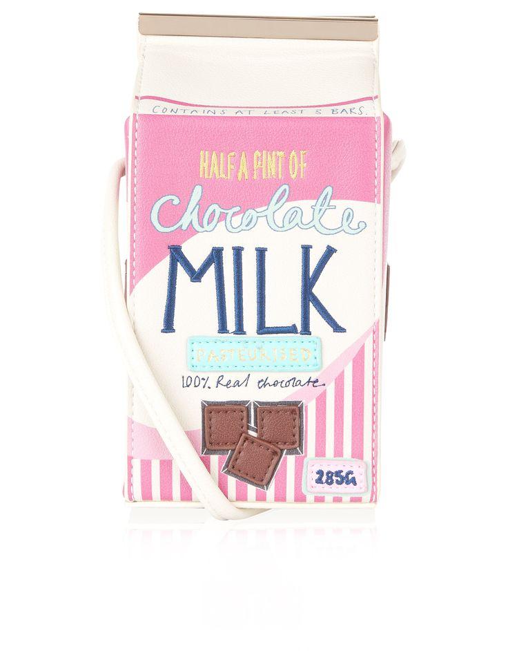 Chocolate Milk Carton Across Body Bag | Multi | Accessorize