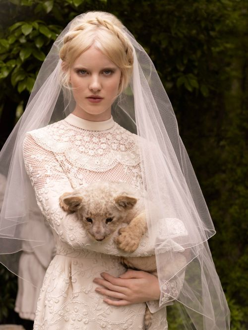 """fairytaleeditorials:  """"A Picture in White"""" photographed by Nicole Nodland   Vogue Japan Wedding"""