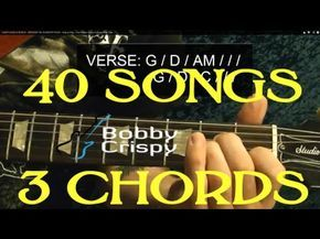 40 EASY EASY Rock Songs, THREE Chords! - Guitar Lesson ( Popular Songs! ) - YouTube