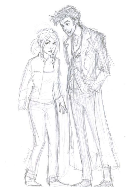 Рисунки доктор кто и роуз