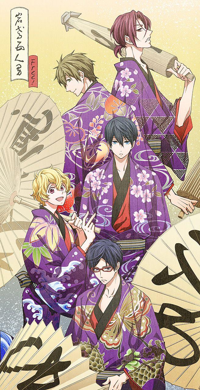 Rin, Makoto, Haru, Nagisa, and Rei ~Free! Iwatobi Swim Club